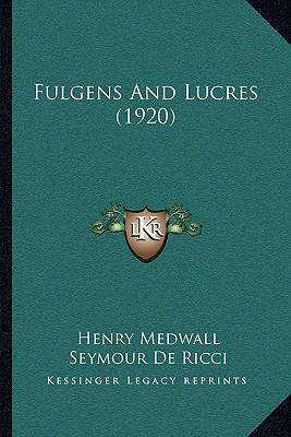 Fulgens and Lucres (1920)