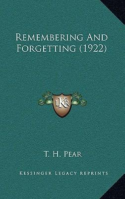 Remembering and Forgetting (1922)