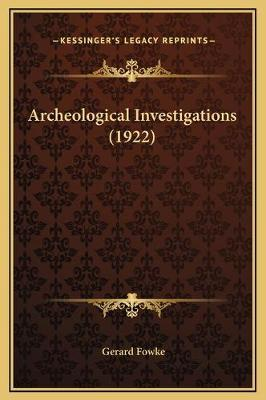 Archeological Investigations (1922)