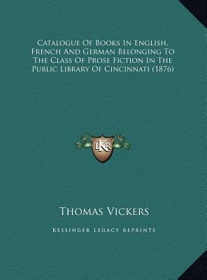 Catalogue Of Books In English French And German Belonging