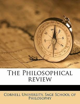 The Philosophical Revie, Volume 20