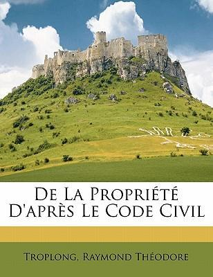 de La Propriete D'Apres Le Code Civil