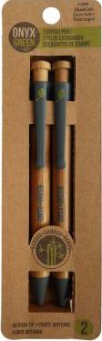 Onyx & Green 2-pack Bamboo Retractable Pen - Black Ink