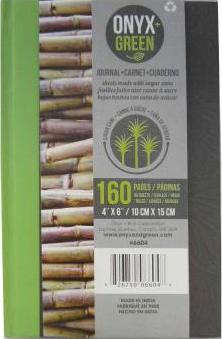 Onyx & Green Journal Sugar Cane Paper