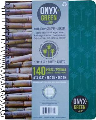 Onyx & Green 1 Subject Notebook Green