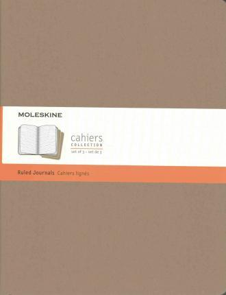 Moleskine Cahier Journal Extra Extra Large Ruled Kraft Brown