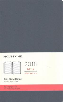 Moleskine 2018 Daily Diary / Planner, Large, Sapphire Blue