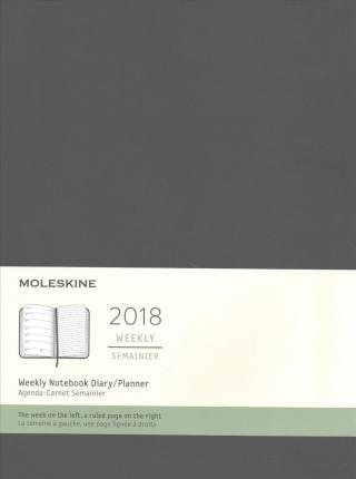 Moleskine 2018 Weekly Notebook Diary / Planner, Extra Large, Black
