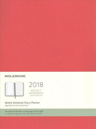 Moleskine 2018 Weekly Notebook Diary / Planner, Extra Large, Scarlet Red