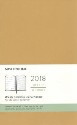 Moleskine 2018 Weekly Notebook Diary/ Planner, Large, Maple Yellow