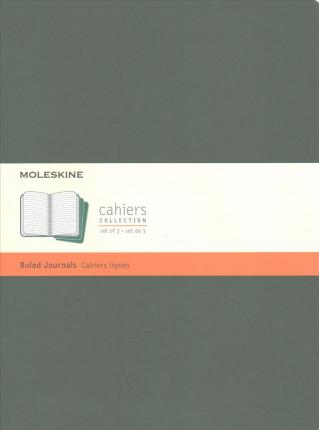 Moleskine Cahier Journal, Extra Large, Ruled, Myrtle Green