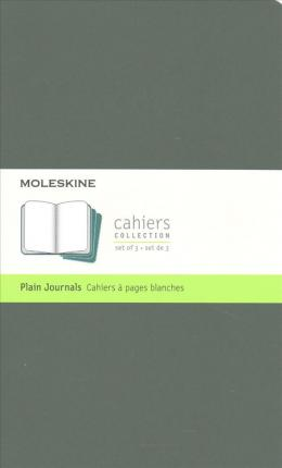 Moleskine Cahier Journal, Large, Plain, Myrtle Green