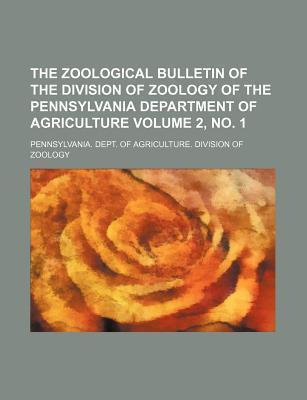 The Zoological Bulletin of the Division of Zoology of the Pennsylvania Department of Agriculture Volume 2, No. 1