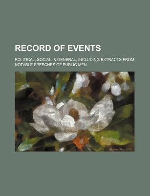 Record of Events; Political, Social, & General, Including Extracts from Notable Speeches of Public Men