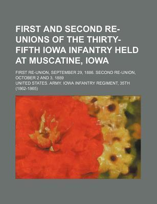 First and Second Re-Unions of the Thirty-Fifth Iowa Infantry Held at Muscatine, Iowa; First Re-Union, September 29, 1886. Second Re-Union, October 2 a