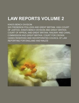 Law Reports; King's Bench Division Volume 2