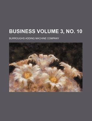 Business Volume 3, No. 10