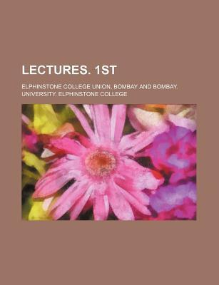 Lectures. 1st