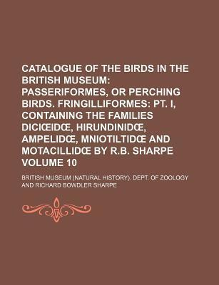Catalogue of the Birds in the British Museum; Passeriformes, or Perching Birds. Fringilliformes PT. I, Containing the Families DICI Id, Hirundinid, Am