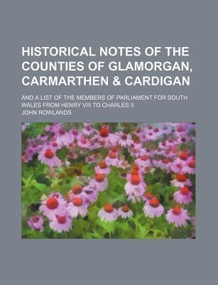 Historical Notes of the Counties of Glamorgan, Carmarthen & Cardigan; And a List of the Members of Parliament for South Wales from Henry VIII to Charles II.