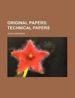 Original Papers; Technical Papers