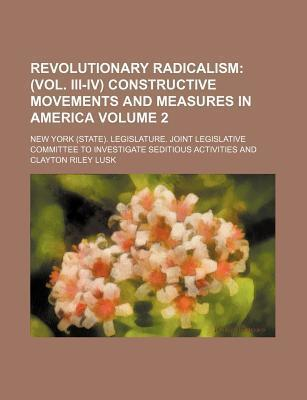 Revolutionary Radicalism; (Vol. III-IV) Constructive Movements and Measures in America Volume 2