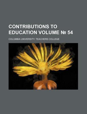 Contributions to Education Volume 54