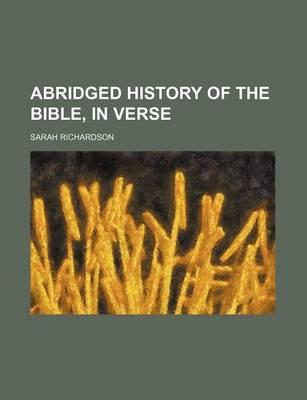 Abridged History of the Bible, in Verse