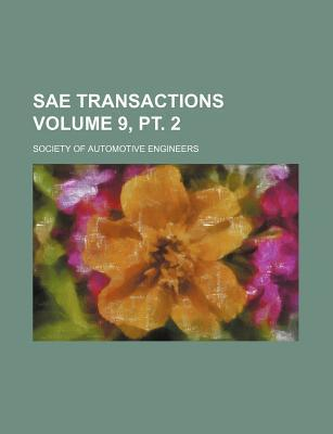 Sae Transactions Volume 9, PT. 2