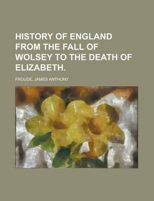 History of England from the Fall of Wolsey to the Death of Elizabeth Volume III