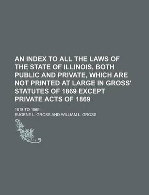 An Index to All the Laws of the State of Illinois, Both Public and Private, Which Are Not Printed at Large in Gross' Statutes of 1869 Except Private Acts of 1869; 1818 to 1869