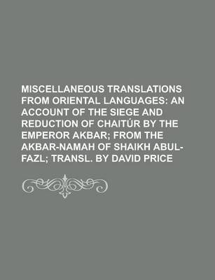 Miscellaneous Translations from Oriental Languages