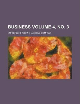Business Volume 4, No. 3