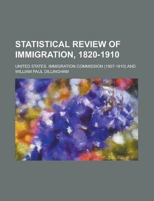 Statistical Review of Immigration, 1820-1910