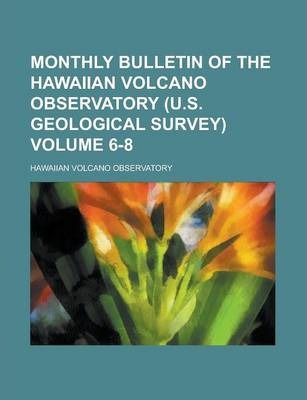 Monthly Bulletin of the Hawaiian Volcano Observatory (U.S. Geological Survey) Volume 6-8