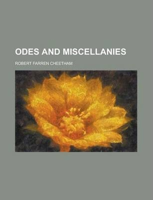 Odes and Miscellanies