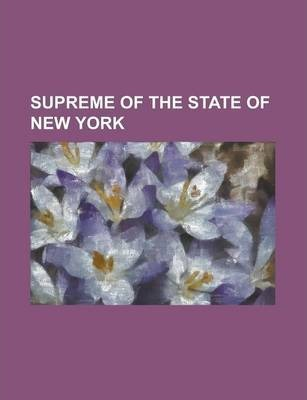 Supreme of the State of New York