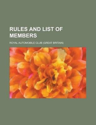 Rules and List of Members