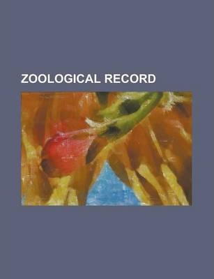 Zoological Record Volume 24