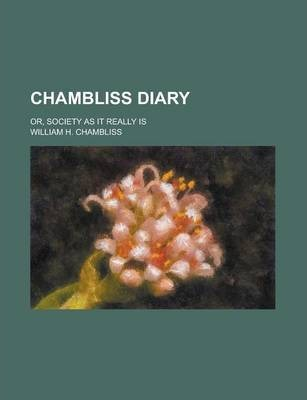Chambliss Diary; Or, Society as It Really Is