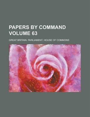 Papers by Command Volume 63