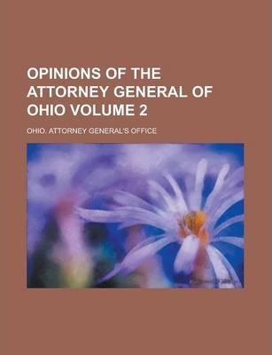 Opinions of the Attorney General of Ohio Volume 2