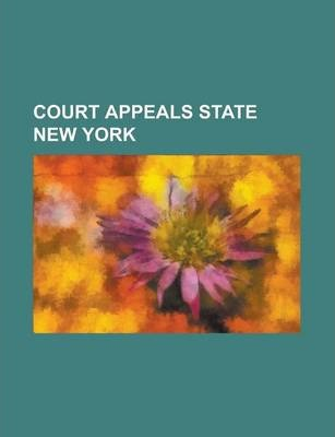 Court Appeals State New York