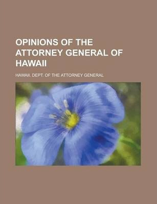 Opinions of the Attorney General of Hawaii