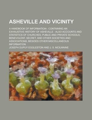 Asheville and Vicinity; A Handbook of Information
