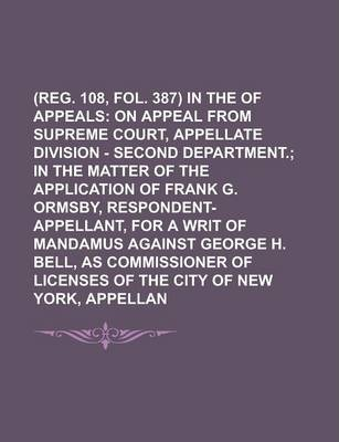(Reg. 108, Fol. 387) in the Court of Appeals