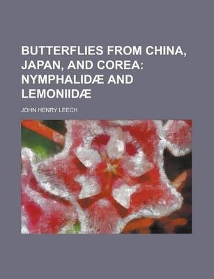 Butterflies from China, Japan, and Corea