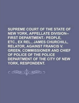 Supreme Court of the State of New York, Appellate Division--First Department