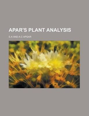 Apar's Plant Analysis