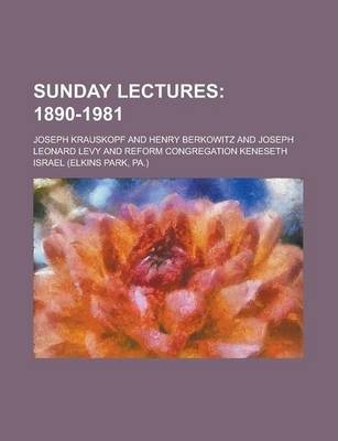 Sunday Lectures